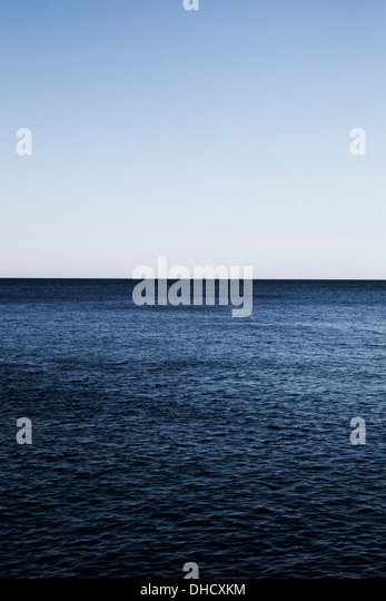 Croatia, Mediterranean Sea, ocean, view to horizon - Stock Image