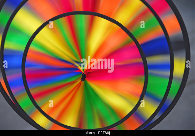 Abstract pattern formed by spinning whirlygig. - Stock Image
