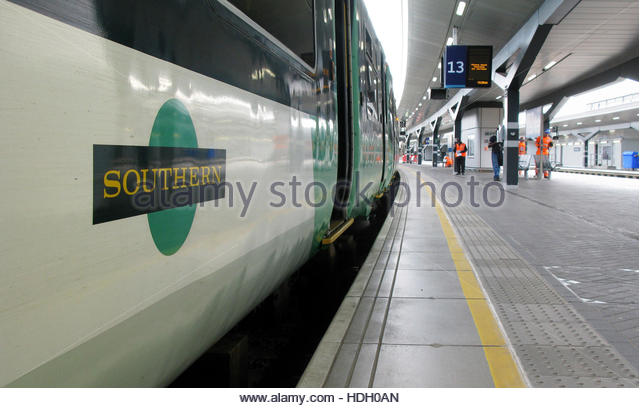 File photo dated 08/07/16 of a Southern railway train. The rail regulator is being urged to launch an investigation - Stock Image