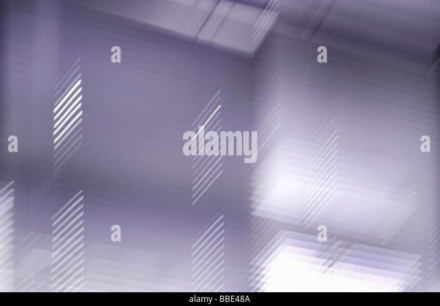 Window Blinds, motion blur through long-exposure - Stock-Bilder