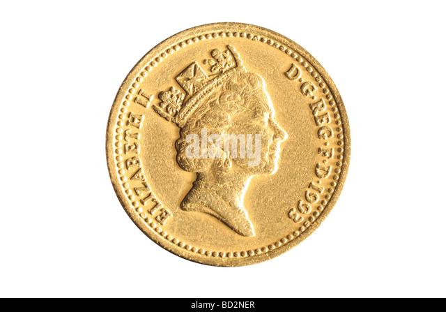 one pound coin - Stock-Bilder