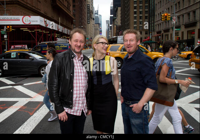 Australian actors Richard Roxburgh (R) and Cate Blanchett will star in the Sydney Theatre Companys' production - Stock Image
