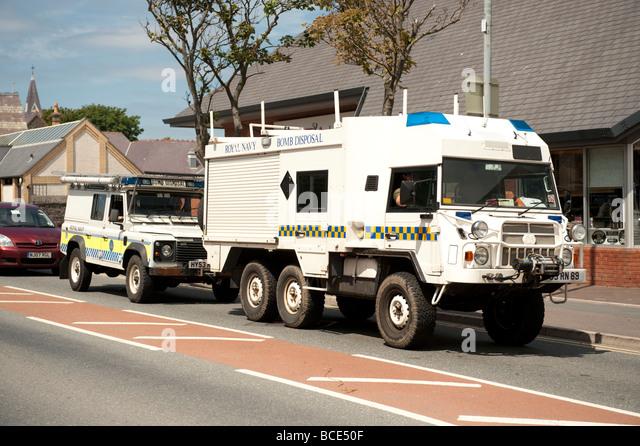 UK Royal Navy Bomb Disposal unit vehicles - Stock Image