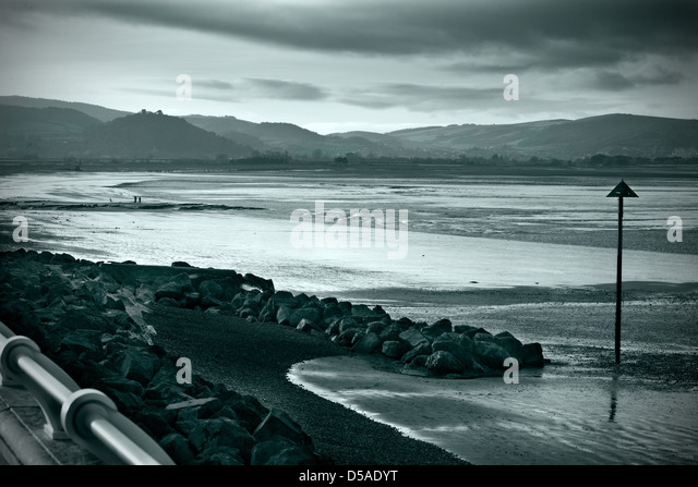 Split tone landscape shot of Blue Anchor Bay - Stock Image