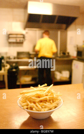 Photograph of chips fast food obesity bad diet unhealthy fries - Stock-Bilder