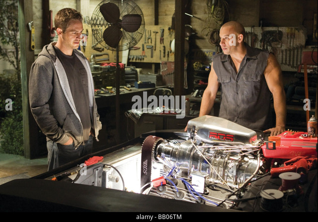 Fast and Furious Year : 2009 Director : Justin Lin Paul Walker, Vin Diesel, - Stock Image