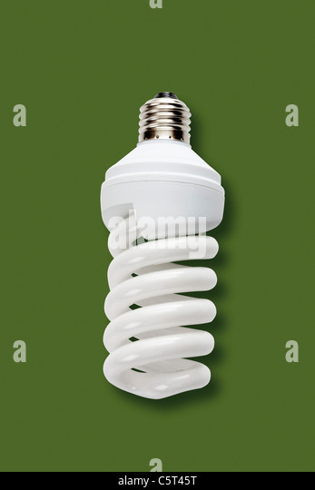 Energy saving lamp, elevated view - Stock Image