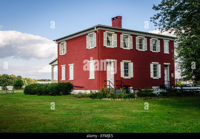 Susquehanna Museum at the Lock House, 817 Conesto Street, Havre de Grace, Maryland - Stock Image