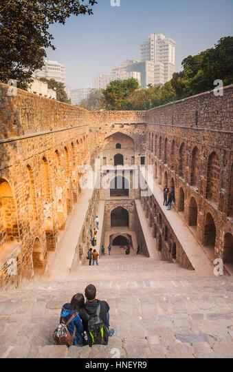 Agrasen ki Baoli, Delhi, India - Stock Image