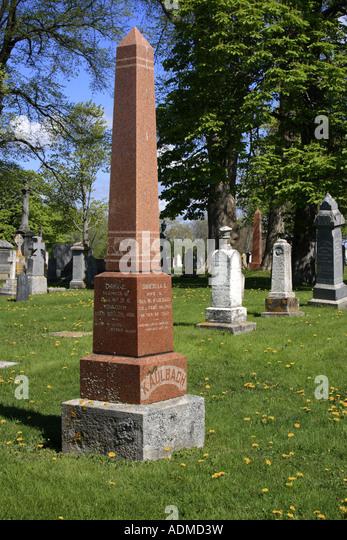 cemetery of Lunenburg, Nova Scotia, Canada, North America.  Photo by Willy Matheisl - Stock Image