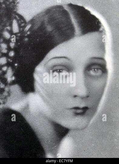Barbara La Marr (1896-1926) was known as 'The Girl who is too Beautiful'. - Stock Image