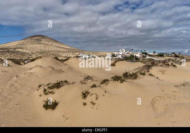 Playa Sotavento de Jandia, Fuerteventura, Canaries, Spain - Stock Image