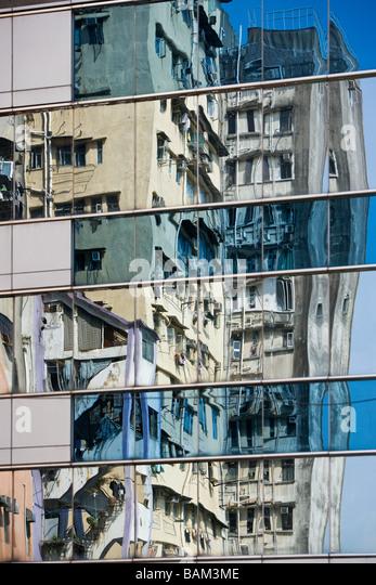 Skyscrapers in hong kong - Stock Image