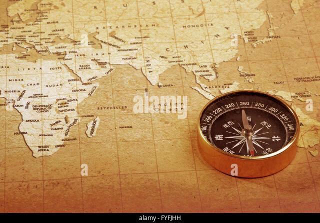 Treasure Map Compass Stock Photos & Treasure Map Compass ...