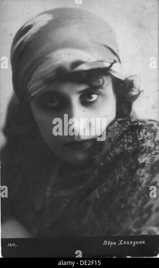 Vera Kholodnaya, Russian silent film actress, 1916. - Stock-Bilder
