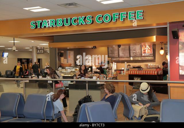 Atlanta Georgia ATL Hartsfield-Jackson Atlanta International Airport concession business Starbucks Coffee coffee - Stock Image