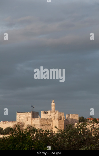 israel. jerusalem old city. the Tower of david - Stock Image