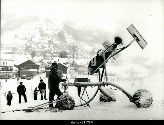 Dec. 12, 1980 - Snow cannon for ski world-cup: There is not too much snow in Ebnat-Kappel (Switzerland), where mens - Stock Image