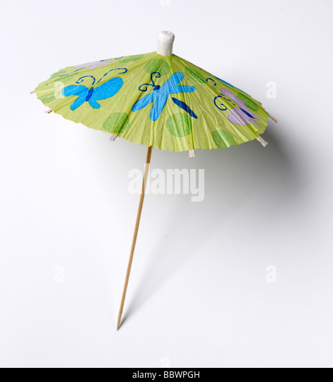 Cocktail Umbrella Toothpick   Stock Image