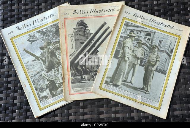 The War Illustrated magazines, UK - Stock Image