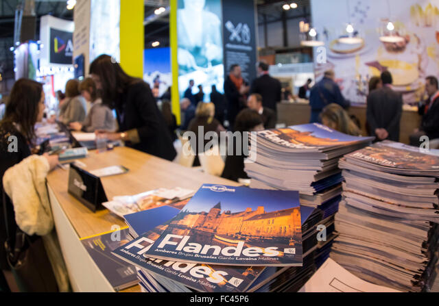 Madrid, Spain. 20th January, 2016. Fitur, International Travel and Tourism Fair, at IFEMA. Stand Belgium. Credit: - Stock Image