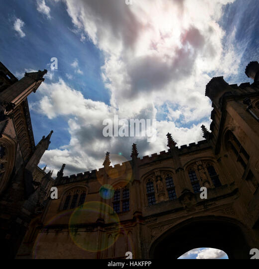 View of Wells Cathedral, Somerset, England - Stock Image