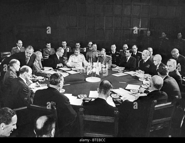 Berlin. July 1945. A sitting of the Potsdam Conference. - Stock Image