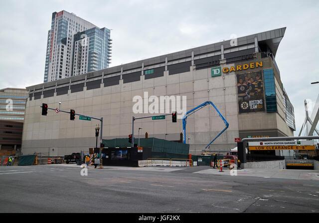 TD Garden arena Boston USA - Stock Image