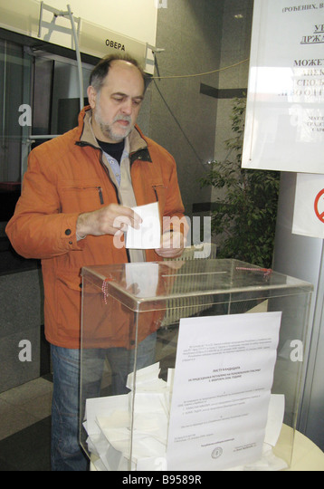 The second round of the presidential election Belgrade - Stock Image