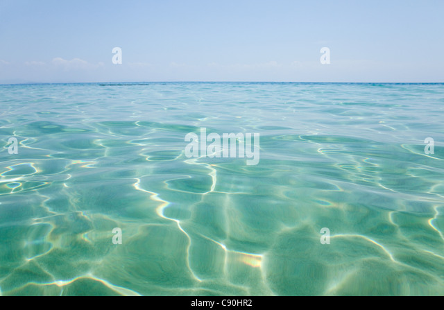 Peaceful water off Penhentian Kecil, Perhentian Islands, Malaysia - Stock Image