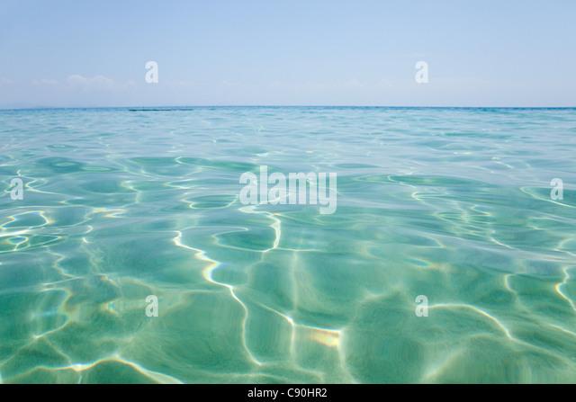 Peaceful water off Penhentian Kecil, Perhentian Islands, Malaysia - Stock Image