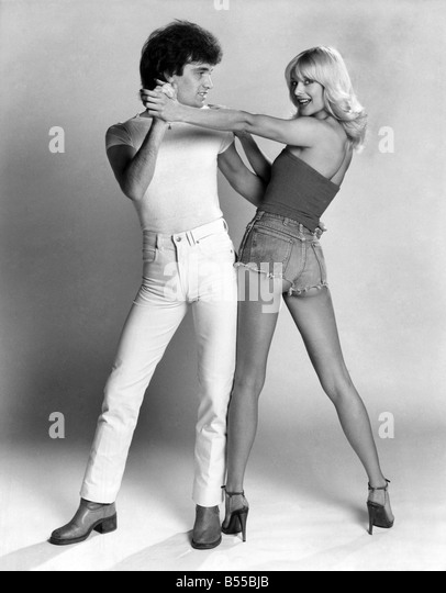 The Child Disco smooch. Step Two - The Bump With Mike Mckenzie. Jilly Johnson with 'The Child'. July 1978 - Stock Image