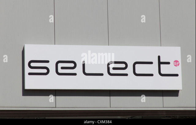 Select fashion store signage - Stock Image
