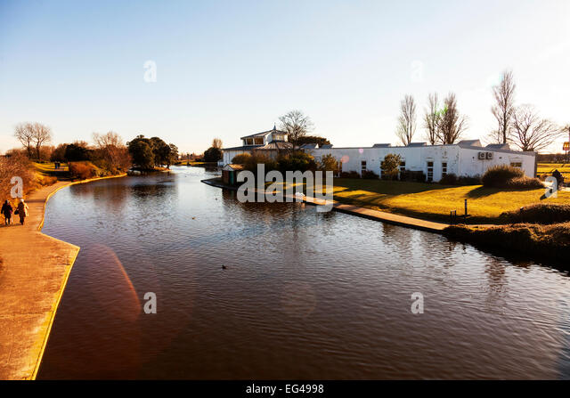 Cleethorpes boating lake and discovery centre building outside exterior town lincolnshire uk england - Stock Image