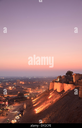 India, Rajasthan, Jaisalmer, Jaisalmer Fort - Stock Image