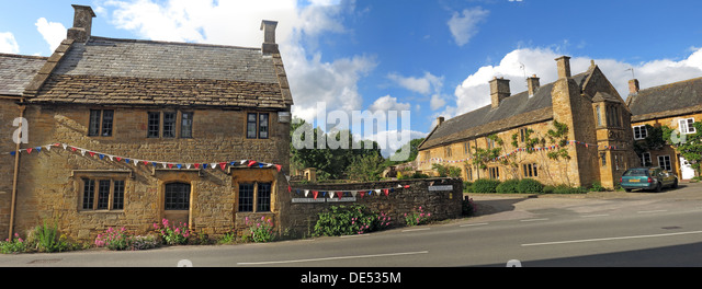 The Borough, Montecute village, South Somerset,pano,panorama - Stock Image