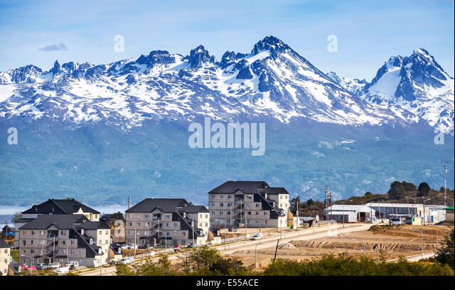 Mountains over Ushuaia, Argentina. - Stock Image