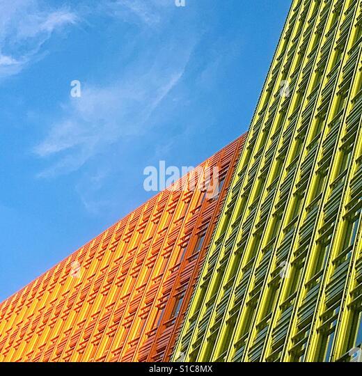 Renzo Piano brightly colourrd buildings london - Stock-Bilder