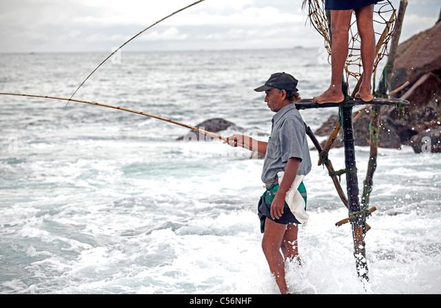 Stilt fishing stock photos stilt fishing stock images for Sri lanka fishing