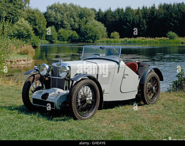1933 MG J3 supercharged 2 seater roadster. - Stock Image