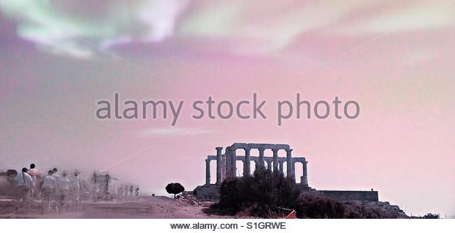 the Temple of Poseidon - Stock Image