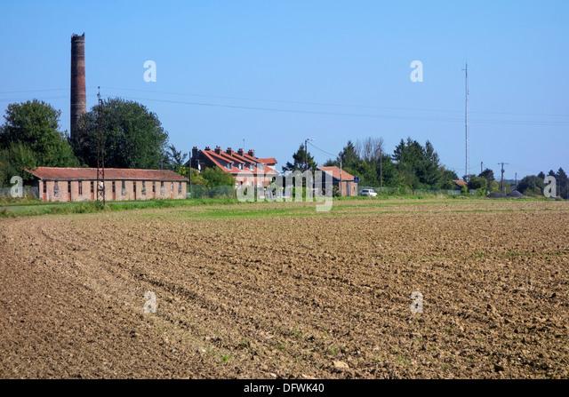 Brickworks near crash site of Red Baron, German WWI ace fighter pilot Manfred von Richthofen at Vaux-sur-Somme, - Stock Image