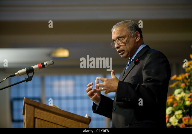 Dr.Patrick Sookhdeo, International Director of Barnabas Fund - Stock Image