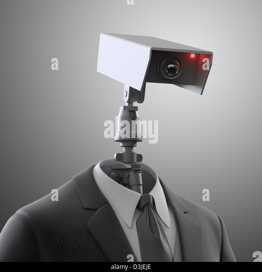 A robotic security camera - automated surveillance - Stock-Bilder