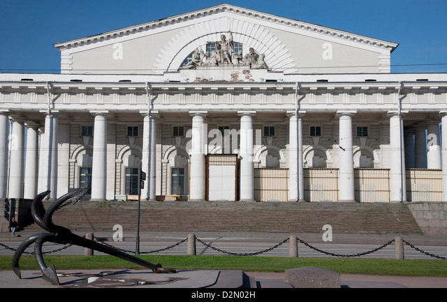 Old Stock Exchange, St. Petersburg, Russia, Europe - Stock Image