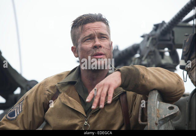 FURY (2014) BRAD PITT DAVID AYER (DIR) MOVIESTORE COLLECTION LTD - Stock Image