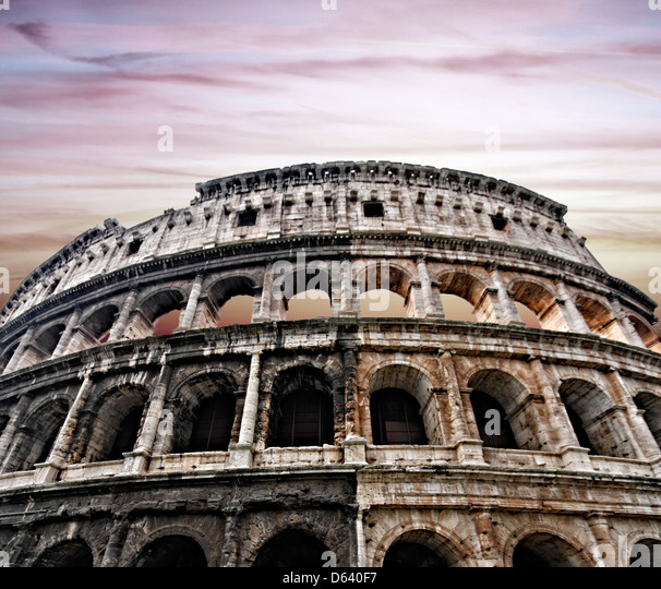 Colosseum in Rome - Stock Image