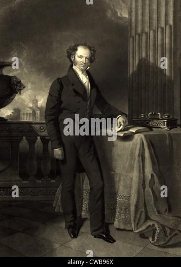 President Martin Van Buren, 1840 - Stock Image