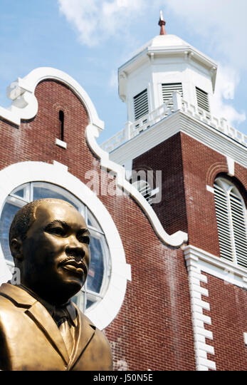 Selma Alabama Brown Chapel A.M.E. Church Martin Luther King Jr. Monument Civil Rights Movement segregation Black - Stock Image