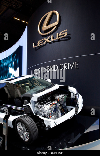 Hybrid car of the Lexus brand, which belongs to the Toyota group, at the 63. Internationale Automobilausstellung - Stock Image